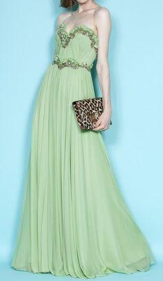 Gorgeous Silk Evening Gown Formal Elegant Empire Waist Sexy. $499.00, via Etsy.