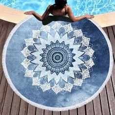 Mandala tapestry, mandala blanket, geometric mandala, beach wrap, beach y. Mandala Bleu, Geometric Mandala, Mandala Blanket, Mandala Tapestry, Henna, Lotus Bleu, Deeper Shade Of Blue, Tapestry Beach, Mandalas Drawing
