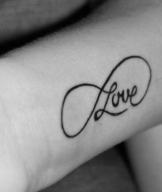 love infinity tattoo