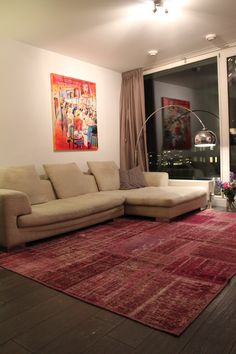 Isparta patchwork vloerkleed onder de eettafel vintage patchwork tapijt vintage tapijten - Tapijt onder de eettafel ...