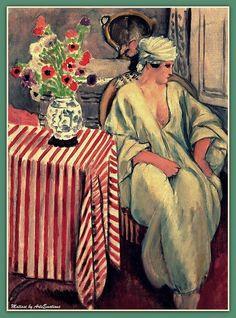 """Meditation after the Bath"""".(1927) Henri Matisse"""