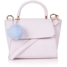 TOPSHOP **Pink Mini Lady Tote Bag by Skinnydip ($45) ❤ liked on Polyvore featuring bags, handbags, tote bags, pink, leather purse, pink leather handbag, leather tote handbags, mini tote bag and leather tote bags