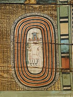 This is one of the most magnificent inscribed and painted sarcophagi from the Middle Kingdom. It is made for the General Sepi of the fifteenth nome of Upper Egypt. The exterior sides of the wooden sarcophagus are decorated with painted hieroglyphs depicting the names, titles, and offering formula. Two Udjat eyes are located at the top of the false door that is depicted on the side, to which the mask of the anthropoid coffin is turned. The interior decoration is entirely painted.
