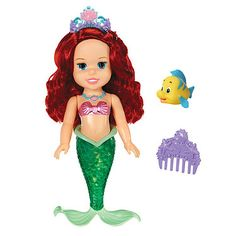 ow of colour!  Disney fans aged three and up will love this Little Mermaid Doll. Please note: 3 x AAA batteries are included.