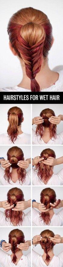 7 hermosos peinados para hacerte rápido con el cabello mojado - Imagen 4