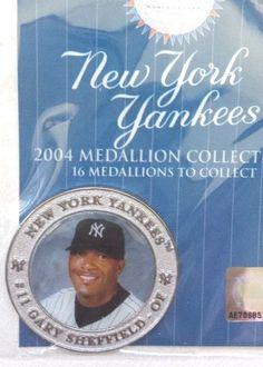 NY YANKEES GARY SHEFFIELD #11 ~ 2004 MEDALLION , COLLECTIBLE SEALED~ #NewYorkYankees