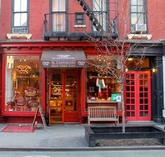 Red store front, NYC