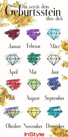 Birthstone: The most beautiful jewelry to match your .- Geburtssteine: Die schönsten Schmuckstücke passend zu deinem Geburtsmonat Birthstone: The most beautiful jewelry to match your birth month – and what they reveal about you! Astrology Tattoo, Fashion Jewelry Stores, Birth Month, Schmuck Design, Diy Schmuck, Famous Last Words, Useful Life Hacks, Diy Cleaning Products, Nice Body