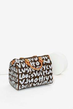 Vintage Louis Vuitton Stephen Sprouse Leather Bag - Gray
