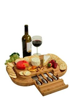 One Kings Lane - Picnic at Ascot - Malvern Deluxe Cheese Board Set  sc 1 st  Pinterest & Malvern Cheese Board Set - Overstock™ Shopping - Great Deals on ...