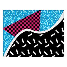 Positively #80s #poster #zazzle #abstract #geometric #textured #pattern #art #ArtPrint #artwork #illustrations #GraphicDesign