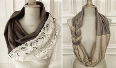 Turn your old sweaters into a cowl scarf