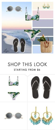 """Beach Vibes"" by coolmommy44 ❤ liked on Polyvore featuring Dolce&Gabbana, Aéropostale and Carousel Jewels"