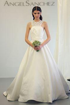 designer hochzeitskleider angel sanchez braut schmuck spitze brautkleider 2014