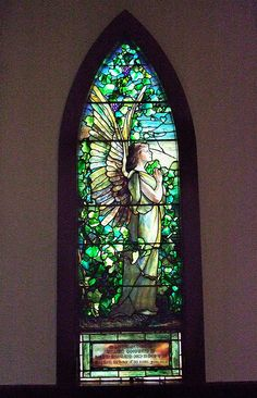 Tiffany Window by mehughes, via Flickr. Angel window. Pequot Colony, New London CT