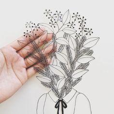 Paper cutouts by Kanako Abe #papercraft #cutouts