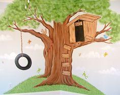 Lake House? Modern Tree House Wall Murals Decorating Ideas I'll