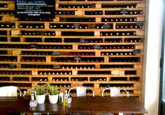 Pallets cut in half and stacked....if only I had this much wine to fill it ;)