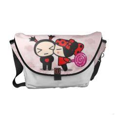 Cute Kiss Me Messenger Bag