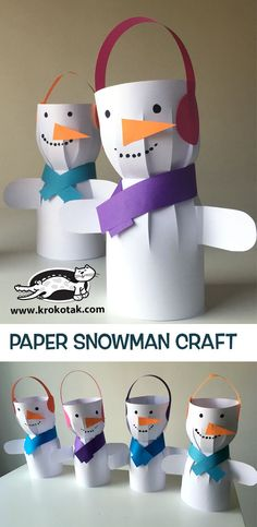 krokotak | PAPER SNOWMAN CRAFT . . #ecobynaty #naty #baby #babycare #organic #eco #green #natural #mother #mom #father #dad #environment #child #care #inspire #ecofriendly #parents #Parenting #style #pregnant #design #toddler #little #love #family #homemade #diy #doityourself