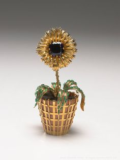 """Jean Schlumberger's magical """"'plant"""" made for Mrs. Mellon ( now in Richmond's beautiful museum, alongside other Schlumberger marvels from Mrs. Mellon.)"""