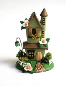 Miniature  Charming Two Story Fairy Cottage by ArtisticSpirit