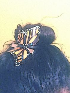 butterfly on the hair