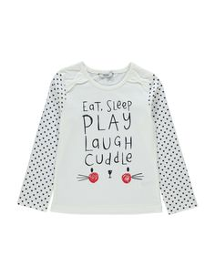 Eat Sleep Play Slogan Top | Girls | George at ASDA