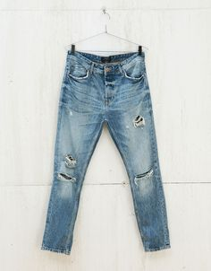 Ripped slim vintage jeans - Jeans - Bershka United Kingdom