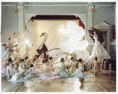 "The Greatest Show on Earth: A British Panto"" by Tim Walker for British Vogue, December 2004 (Model: Lisa Cant)"