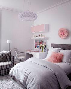 Pink bedroom design, pink bedroom decor, bedroom decor for kids, bedroom . Pink Bedroom Design, Pink Bedroom Decor, Pink Bedrooms, Girl Bedroom Designs, Bedroom Themes, Bedroom Sets, Home Bedroom, Girls Bedroom, Master Bedroom