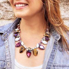 Introducing the Bouquet Statement Necklace, available now on my boutique!  https://www.chloeandisabel.com/boutique/lisahaas #lisasciboutique