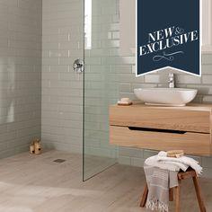 wetroom or main? Diamante Pastel Mint Tile with wood effect tiles Pastel Bathroom, Mint Bathroom, Wet Room Bathroom, Family Bathroom, Downstairs Bathroom, Bathroom Renos, Laundry In Bathroom, Bathroom Layout, Bathroom Interior