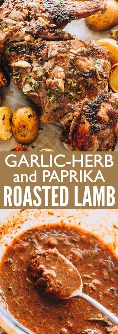 Garlic Herb and Paprika Roast Leg of Lamb - Tender, melt-in-your mouth Roast Leg of Lamb prepared with a succulent and citrusy garlic, herbs, and paprika marinade. A classic Easter lunch with tons of flavor! #lambrecipes #Easter #roast