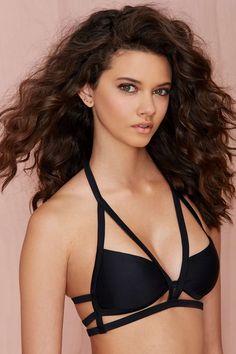 Nasty Gal In the Cage Halter Bikini Top | Shop Swimwear at Nasty Gal