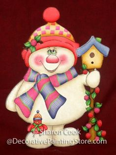 The Decorative Painting Store: Springtime Snowman Pattern, Sharon Cook