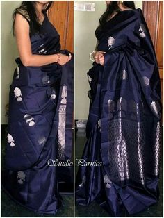 New Look Black Color Soft Silk Designer Saree
