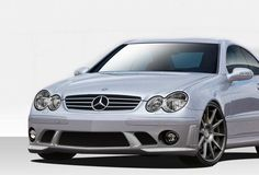 Duraflex 03-09 Mercedes CLK W209 C63 Look Front Bumper Cover Kit