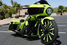 A custom Harley-Davidson Road Glide from John Shope's Dirty Bird Concepts. Custom Choppers, Custom Harleys, Custom Motorcycles, Harley Road Glide, Road Glide Custom, Garage Accessories, West Coast Choppers, Motorcycle Rallies, Hot Bikes