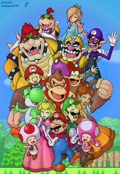 Mario Family by doctorWalui.deviantart.com on @DeviantArt