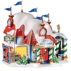 "Department 56: Products - ""North Pole Snow Bank"" - View Lighted Buildings. Retired north pole"