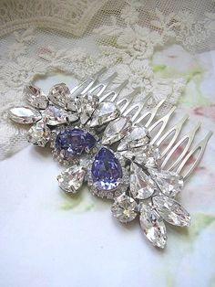 Wedding hair accessories Bridal hair comb vintage style by Hinuma, $49.00