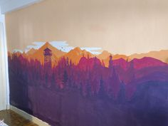 My girlfriend has painted a mural at home based on Camposanto's Firewatch and Olly Moss' art. Here you can find a gallery with the process and the final product. We have used 7 colours. Decoration, Art Decor, Olly Moss, Art Resin, Moss Art, Bedroom Murals, Mural Wall Art, Creative Walls, Room Paint