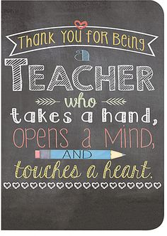 'Thank You For Being A Teacher' Journal