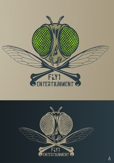 Fly1 Entertainment logo by Artpossible™ #POTD99 05.21.2013 #awesome #bugs