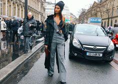The Street Style Weatherproof Hair Trick That's Sweeping Paris Fashion Week Fall 2017