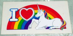Vintage 80's Rainbow Factory Unicorn -I wished I kept my sticker collection from the 80's!!!