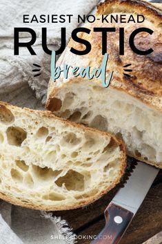 Artisan Bread Recipes, Baking Recipes, Italian Bread Recipes, Easy Bread Recipes, Chef Recipes, Yummy Snacks, Yummy Food, Rustic Bread, Pita
