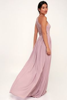 fac301f90f9 Catch a cuties eye in the Lulus Love Spell Dusty Lavender Lace-Back Maxi  Dress