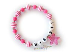 Custom Personalized Girls Bracelet / Lil & Big Sis by BestGifts4Kids, $4.00